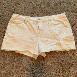 Mossimo white denim shorts